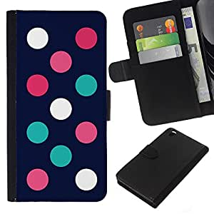Planetar® Modelo colorido cuero carpeta tirón caso cubierta piel Holster Funda protección Para HTC DESIRE 816 ( Minimalist Teal Pink Navy )