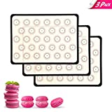 Prodigen Macaron Silicone Baking Mat Non Stick Silicone Mats for Macaron/Pastry/Cookie/Bun/Bread Silicone Baking Sheet Liners