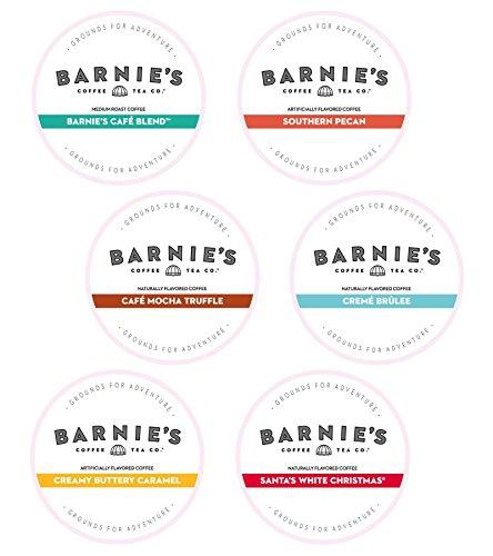 Barnies Coffee & Tea Variety Single Serve Coffee, Santas White Christmas, Creamy Buttery Caramel, Café Mocha Truffle, Crème Brulee, Southern Pecan, Café Blend, Medium Roast, 4 K-Cups of Each Flav