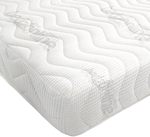 BEDZONLINE Memory Foam and Reflex Mattress with border micro quilted exclusive cover to (3FT SINGLE)
