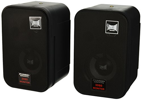 Pyramid 3080 3.5-Inch 2Way 300 Watt bookcase speaker and Studio Monitor 300 Watt Studio Monitor