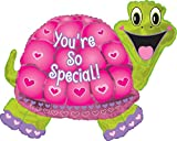 Creative Converting CTI Mylar Balloons, You're So Special Turtle, 31'', Pink/Green pack of 5