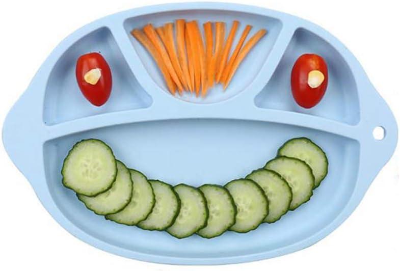 Tragbare Rutschfeste Saugplatten f/ür Kinder Babys und Kinder BPA frei FDA genehmigt Baby Dinner Plate Delleu Silikon Geteilte Kleinkind Teller