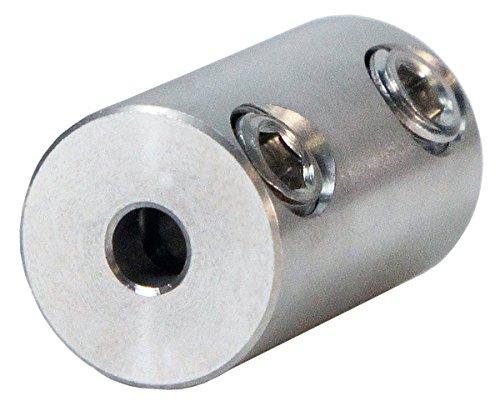 1/4 inch to 3mm Stainless Steel Set Screw Shaft Coupler ServoCity