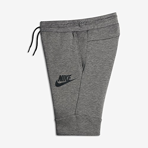 Nike Sportswear Tech Fleece Big Kids' (Boys') Shorts (Medium, Carbon Heather/Black)