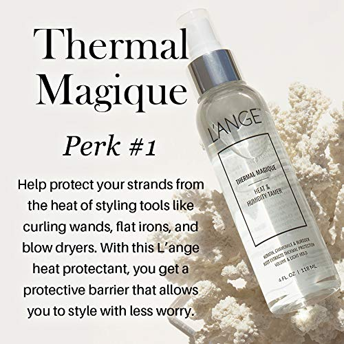 L'ange Hair Thermal Magique | Heat & Humidity Tamer | Thermal Protectant | Fortified with Keratin | Enriched with Vitamins & Amino Acid