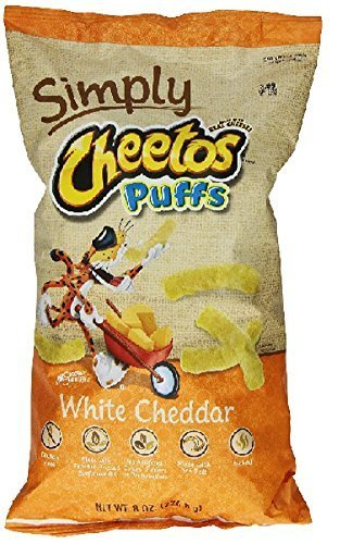 Frito Lay Natural Cheetos White Cheddar Cheese Puffs, 8 Ounce (Pack of 3) by Cheetos
