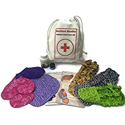 Bullied Birdie Home Care Kit Bundle for Backyard Chickens - Includes 3 Chicken Diapers, 2 Apron Saddles, 1 Durvet Vitamins & Electrolytes, 1 All Heal Salve, 1 Emergency Bag and Instructions