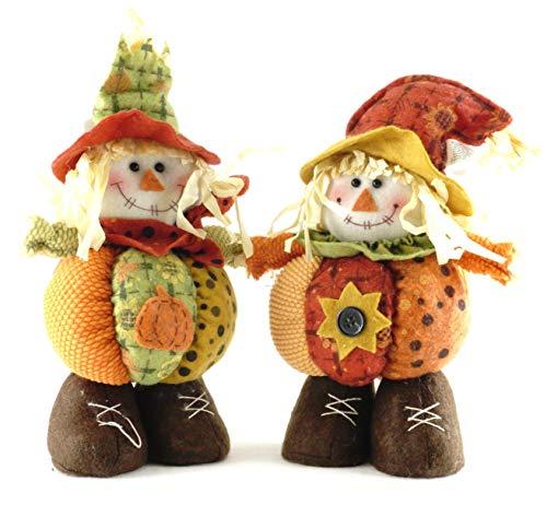 SJL Company Harvest Scarecrow Standing Plush Figurine - Set of 2