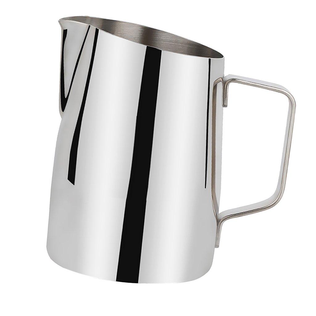 Dovewill Coffee Pitcher Hot Milk Frothing Jug Kitchen Bar DIY Tool 450ml / 700ml - Sliver, 450ml