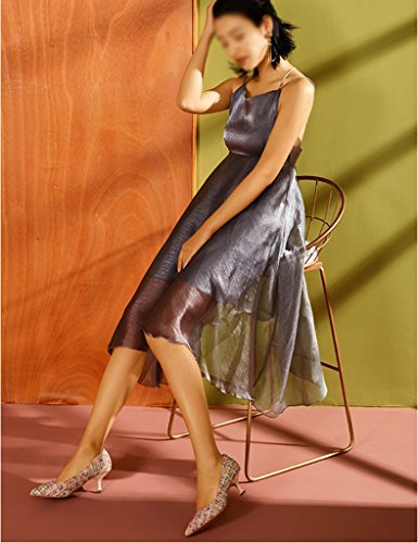 De Primavera De Rayas Mujer Color Tamaño ZCJB De Aguja De Tacón A Profundos La 38 Zapatos De Poco Boca Zapatos 1 Style Zapatos qE6nfxnWt