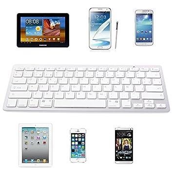 Teclado Bluetooth V 3.0, Diseño Delgado, Español QWERTY Universal para Samsung Galaxy S2 ,
