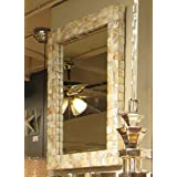 Mother of Pearl Wall Mirror Beach Island Sea Shell