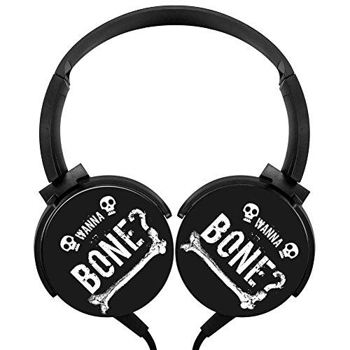 MagicQ Wanna Bone Skull Stereo Deep Bass Wired Headphones Earphones
