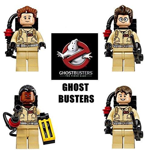 4 MiniFigures Ghost Busters Building Toys Ramond Si Tanzi Winston Zeddemore ONZ 2a