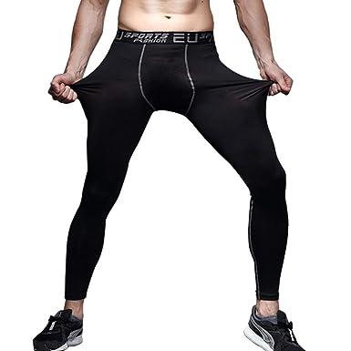 LUBITY Pantalon de Basketball pour Homme Noir Leggings