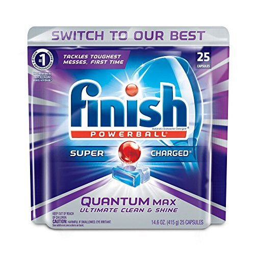 Finish Quantum Max w. Baking Soda, 25ct, Dishwasher Detergent - Baking Soda Dishwasher
