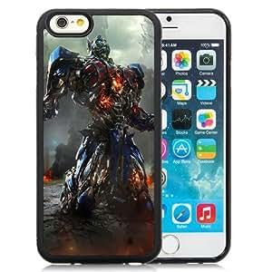 NEW Unique Custom Designed iPhone 6 4.7 Inch TPU Phone Case With Transformers Optimus Prime Movie_Black Phone Case