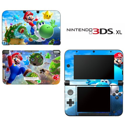 Super Mario Galaxy Yoshi Decorative Video Game Decal Cover Skin Protector for Nintendo 3DS XL (Super Mario Bros 3ds Xl)