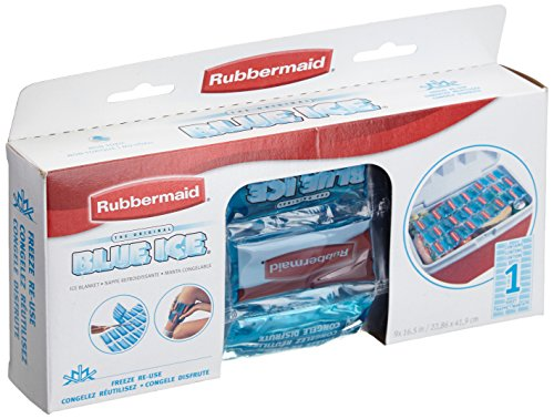 Rubbermaid Blue Ice Single Blanket Reusable Ice Packs FG102406220P