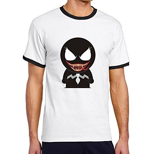Custom Men's Two-toned Vintage South Cartoon Role Park T Shirt Black Size M