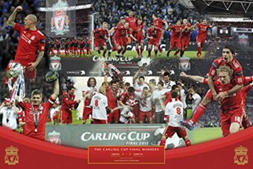 Posters: Soccer Poster - Liverpool FC, Carling Cup Winners 2012 (36 x 24 inches)