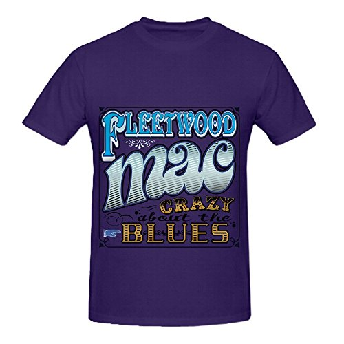 Fleetwood Mac Crazy About The Blues Tour Greatest Hits Men O Neck Slim Fit T Shirts - Hut 33