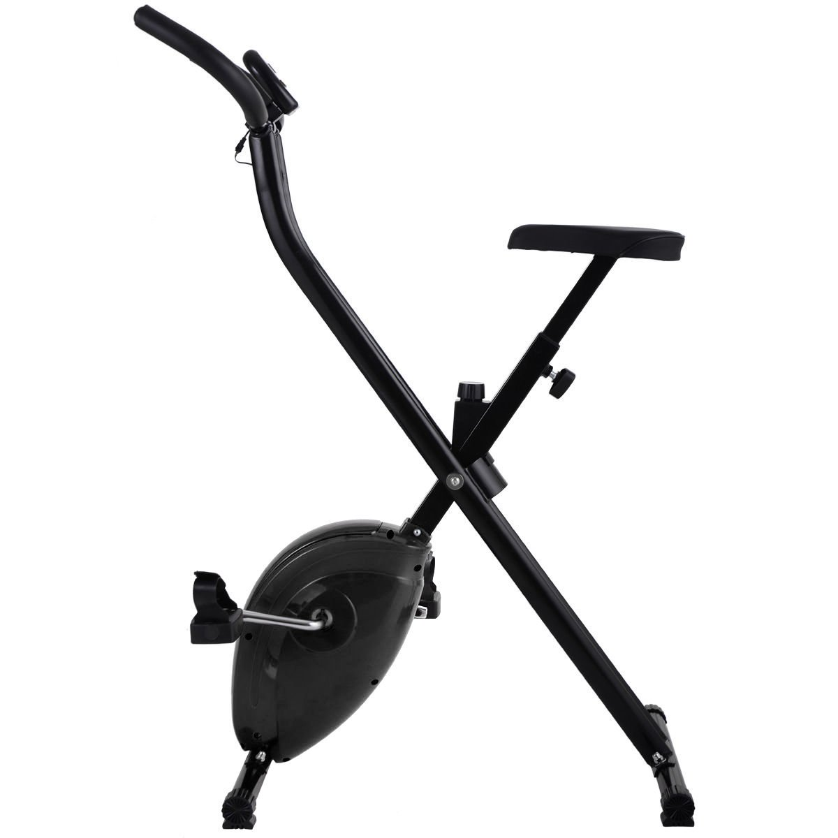 Folding Exercise Bike Home Magnetic Trainer Fitness Stationary Machine New - Black by Eight24hours (Image #2)