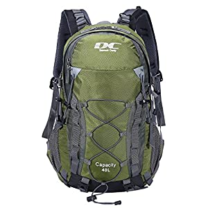 Diamond Candy Hiking Backpack Waterproof 40l Outdoor Backpacks for Men and Women with Rain Cover, Lightweight Daypacks for Travel Camping