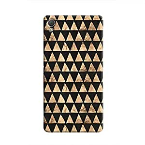 Cover it up - Brown Black Triangle Tile Xperia Z3 Hard Case