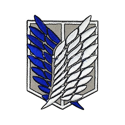Attack on Titan Patch Embroidered Scout Regiment Scout Legion Survey Corps animation Iron On Sew On Patches -