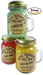 Bull Schmidt's Barn Wood, Lumberjack and Bark & Spice Strongly Scented Sustainable Vegan Natural Soy Candles, Mini Mug 3-Pack