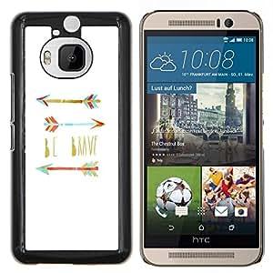Stuss Case / Funda Carcasa protectora - Believe cotización Teal blanco - HTC One M9+ M9 Plus