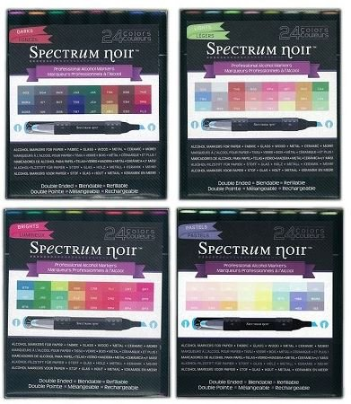 Spectrum Noir 96-pen SET Brights Lights Pastels Darks Next Generation Alcohol Ink Markers Pens Refillable by Spectrum Noir