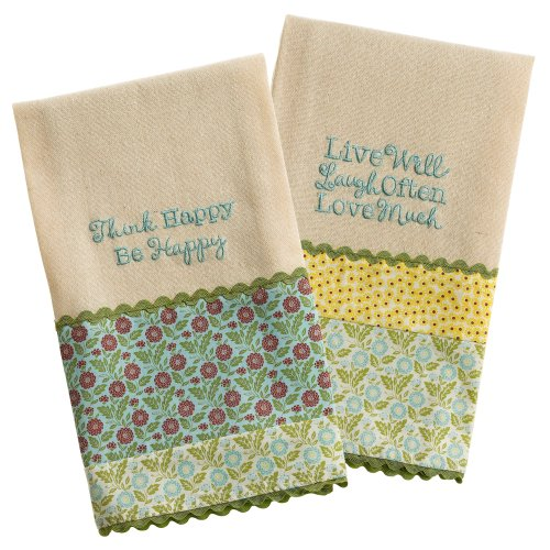 Grasslands Road Linen Spring Meadow Guest Towel Assortment, 18 by 20-Inch, Set of 12 by Grasslands Road