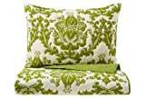 Be-you-tiful Home Damask Quilt Set, Green, Queen