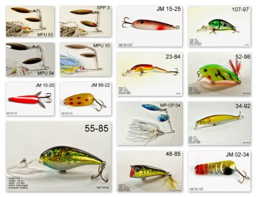 Akuna [VA] Pros' pick recommendation collection of lures for Bass, Panfish, Trout, Pike and Walleye fishing in Virginia(Bass 15-A)