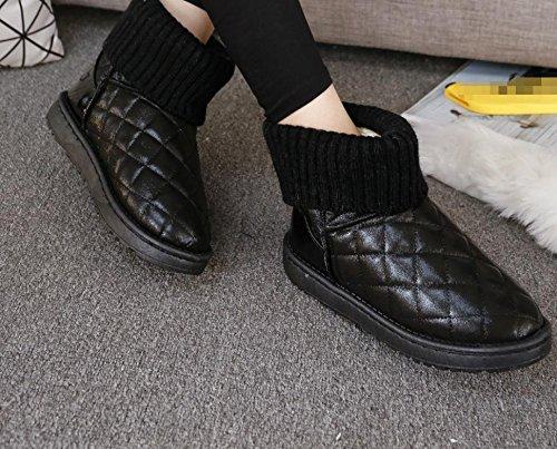nuevas botas de Salvajes las 90 mujeres felpa la manera femenina boca para 160cm caliente lanas la nieve de ocasionales cortos botas de NSXZ qU7CwxU