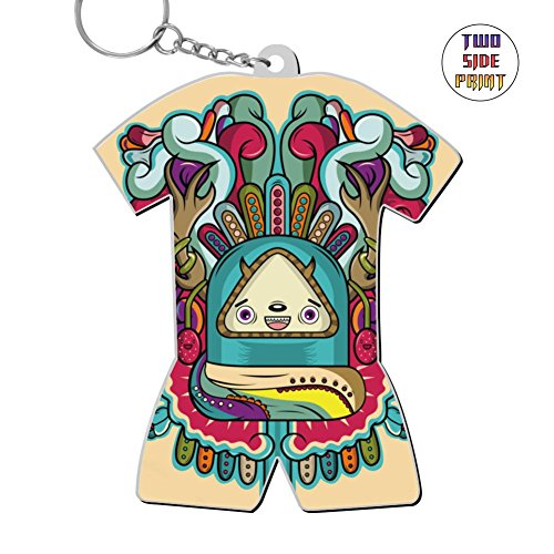 Funny Keychain Colour Pencil Keyring World Cup Polo Shirt Logo Key Ring Key Fob Alloy Nice Gift