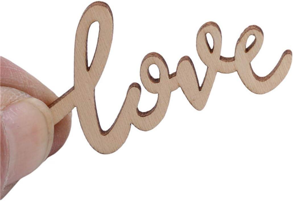 Idiytip 15Pcs Lettre Amour Forme Sc/ène Accessoires D/écorations Fournitures de Mariage en Bois