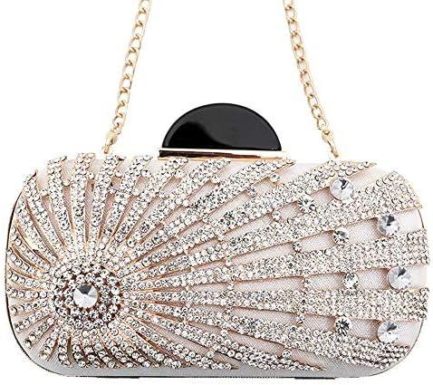 女性のエレガントな輝くダイヤモンドクラッチ、イブニングバッグ夏の女性チェーンショルダーバッグ、パーティー/結婚式/品質のハードウェア 美しいファッション