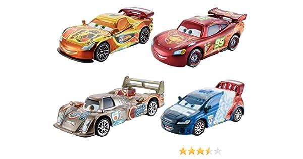 Mattel Cars - Pack 4 Coches de Carreras Neon: Amazon.es: Juguetes y juegos