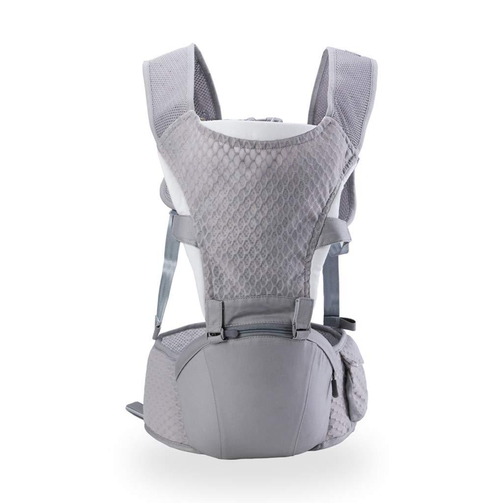 Babytrage,Visier Ergonomie Prävention O-Bein 2 In 1 Falten Lager Abgelenkte Kraft Multifunktion (Farbe : grau)