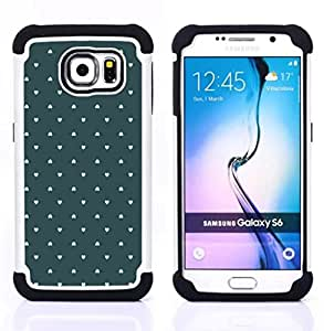 For Samsung Galaxy S6 G9200 - wallpaper green love pastel Dual Layer caso de Shell HUELGA Impacto pata de cabra con im??genes gr??ficas Steam - Funny Shop -
