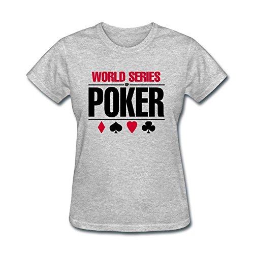 Wsop Poker Shirts - XIULUAN Women's Series Of Poker Wsop Logo T-shirt Size XXL ColorName