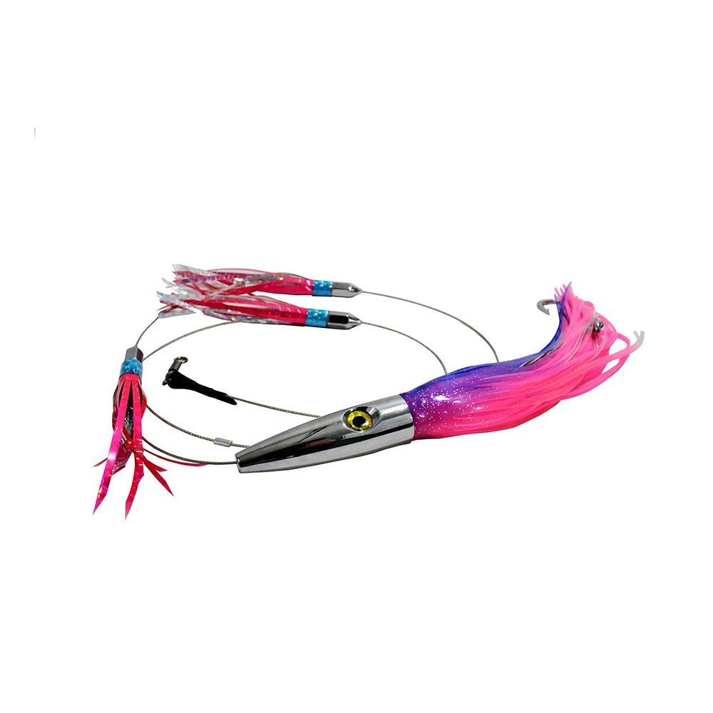 MagBay Lures High Speed Daisy Chain Savage Plomerito 12'' Wahoo Lure by (Pink and Blue)