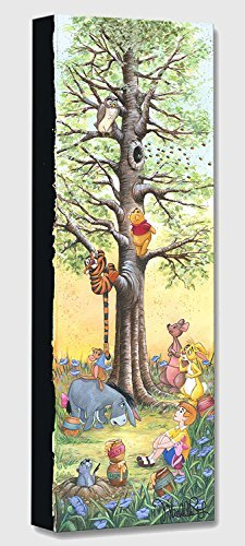 Tree Climbers - Treasures on Canvas - Disney Fine Art Winnie the Pooh Gallery Wrapped Canvas Wall Art by Michelle St. Laurent (Winnie Pooh Merchandise The)