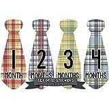 Months in Motion 720 Monthly Baby Stickers Necktie Tie...