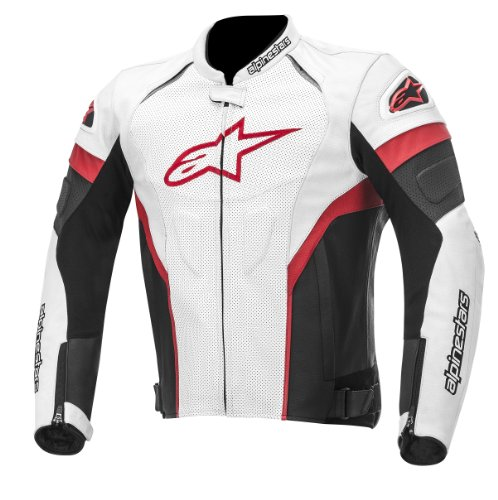 Alpinestars GP Plus R Perforated Perforated Men's Leather Motorcycle Jackets - Black/Red/White / X-Large