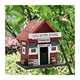 MorTime Wood Bird House, Retro Arts And Crafts Country Cottages Bird House, Woodl